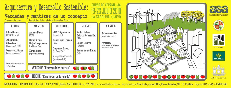 Retesarquitectos en el curso de verano de la uja Arquitectura de desarrollo